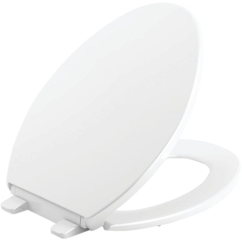 Kohler Brevia Quiet-Close Toilet Seat w/Grip-Tight White, Elongated