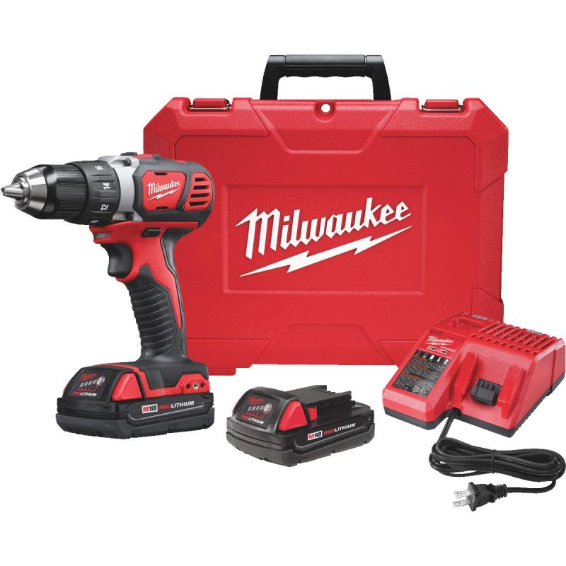 Milwaukee M18 Lithium-Ion Compact Cordless Drill Kit