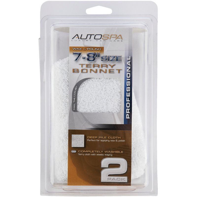 "Auto Spa Cotton Terry Waxing And Polishing Bonnet 7"" To 8"""