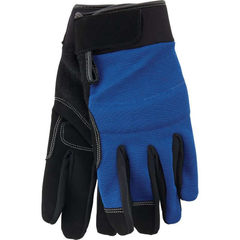 Do it High Performance Glove With Hook & Loop Cuff M, Blue & Black