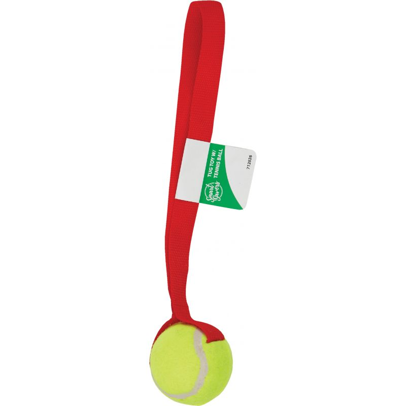 Smart Savers Tug Dog Toy 6 Cm. Dia., Red & Yellow (Pack of 12)