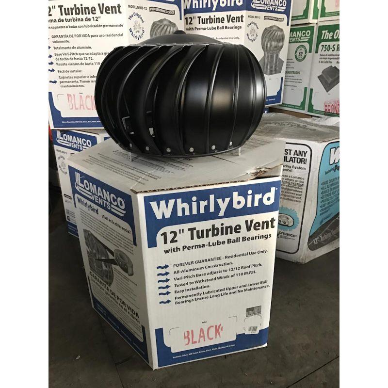 Buy Lomanco 12 In Aluminum Wind Turbine Black With Base 12 Black