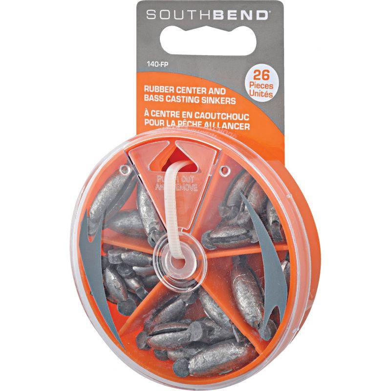 SouthBend 26-Piece Rubber Center Sinker Kit