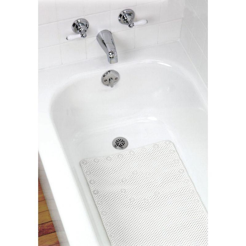 Zenith Foam Bath Mat White