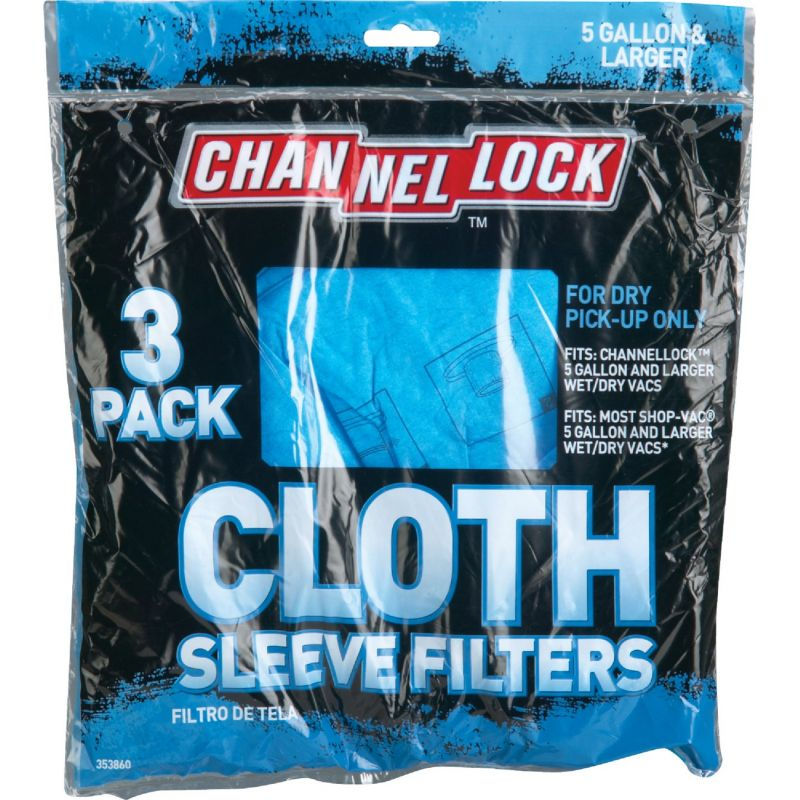Channellock Cloth Filter Vacuum Bag 5 Gal.
