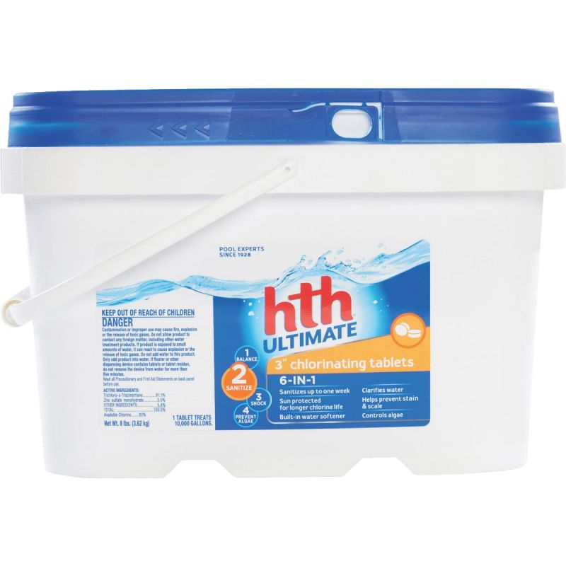 HTH Ultimate Chlorine Tablet 8 Lb. (Pack of 2)