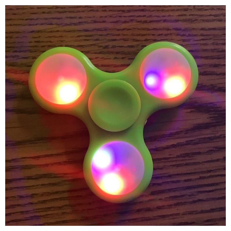 LED Light Hand Spinner - Green Fidget Spinner Green