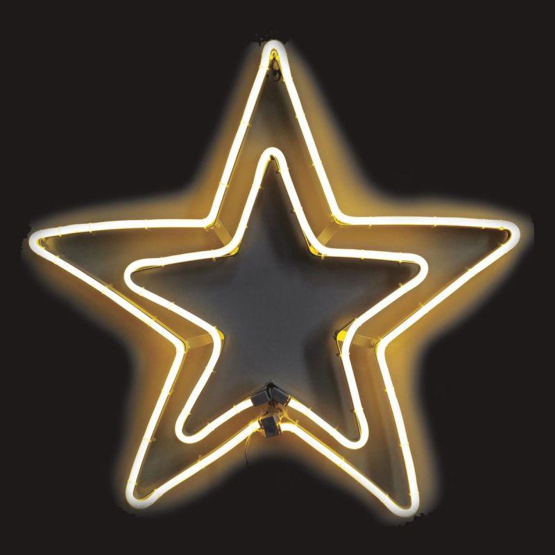 J Hofert Neon LED Lighted Star 24 In.