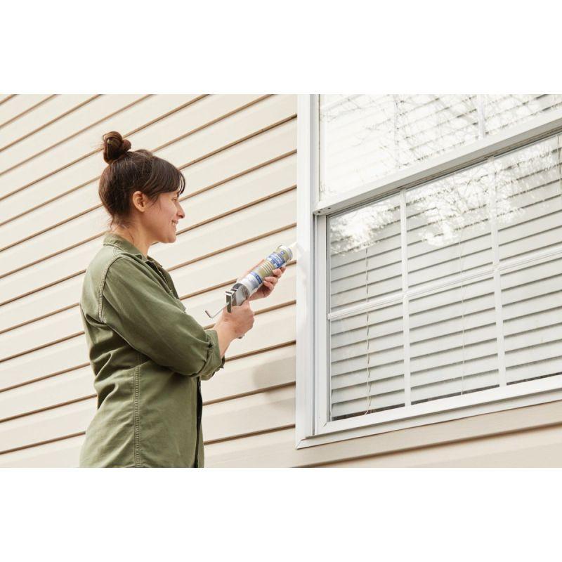 GE Silicone 2+ Window & Door 100% Silicone Sealant 10.1 Oz., Clear