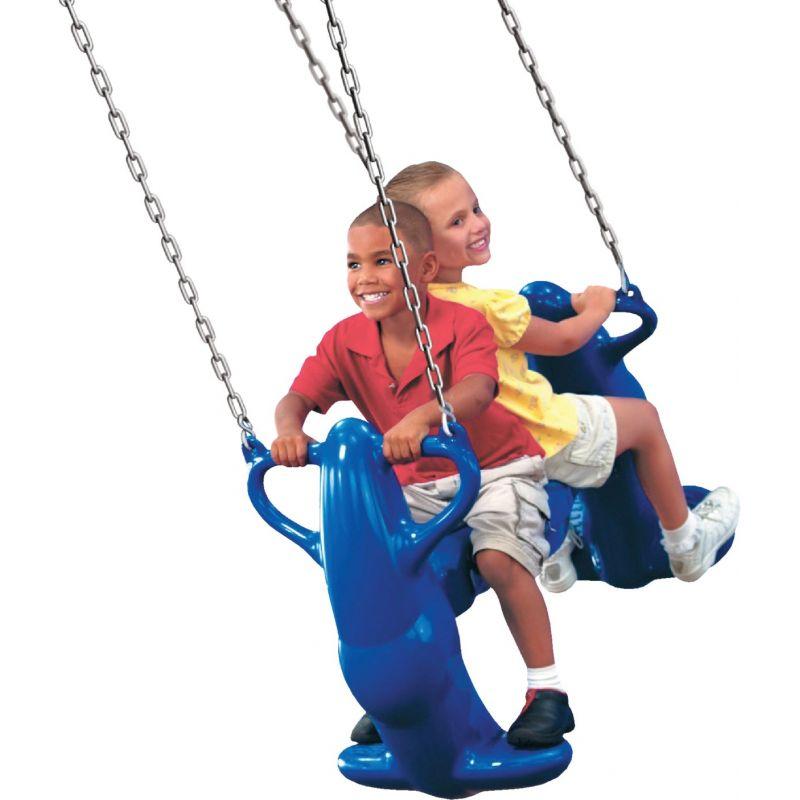 Swing N Slide Mega Rider 2-Seat Glider Swing Blue