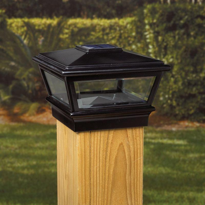 Deckorators Versacap Solar Post Cap Black