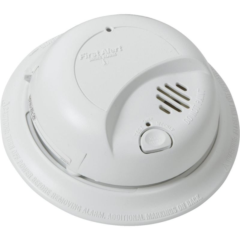 First Alert Ionization Sensor AC/DC Smoke Alarm White