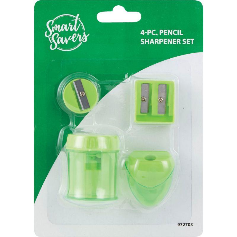 Smart Savers Pencil Sharpener Set Assorted (Pack of 12)