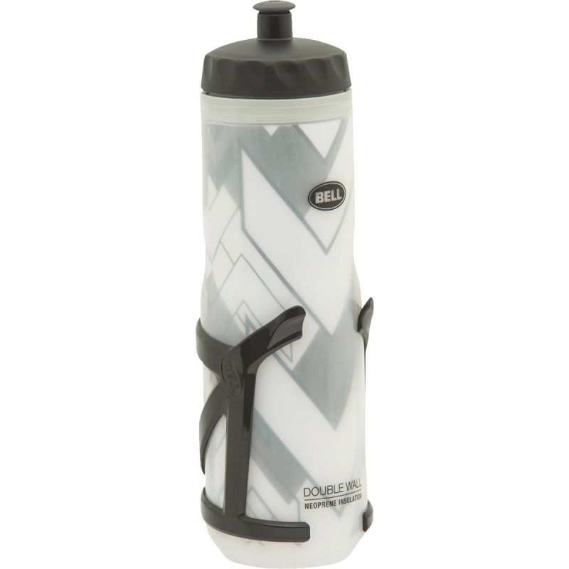 Bell Insulated Water Bottle & Cage White