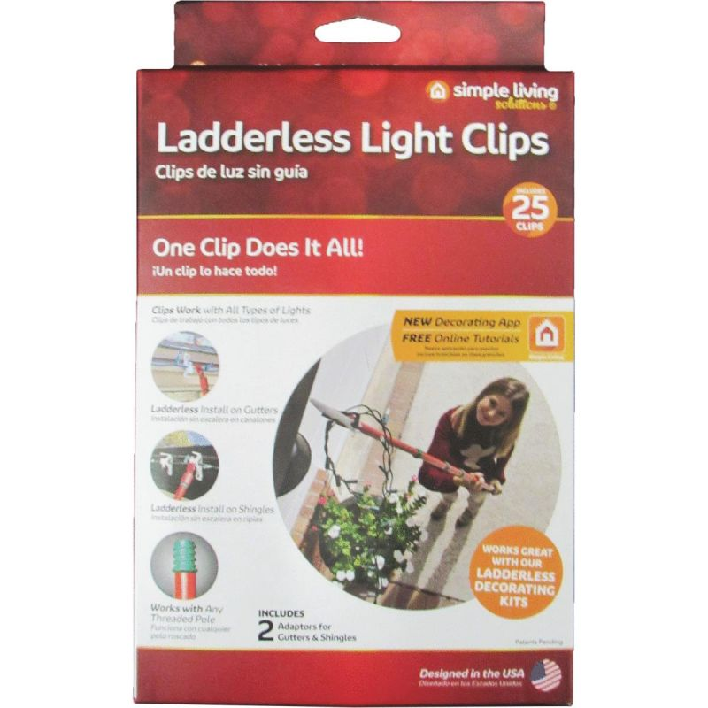 Simple Living Solutions Ladderless Light Clips White