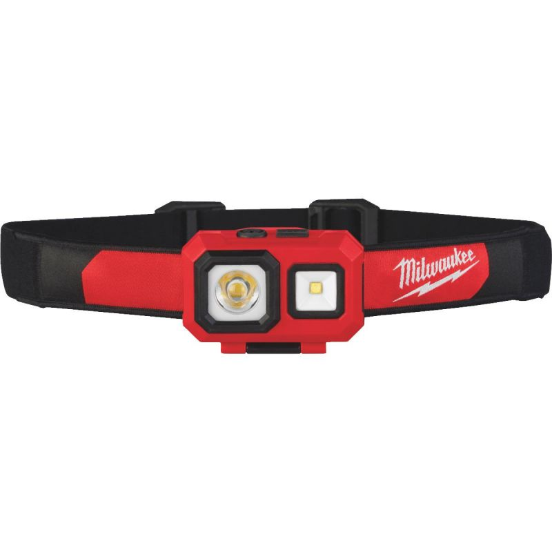 Milwaukee Water & Dust Resistant Headlamp Red/ Black