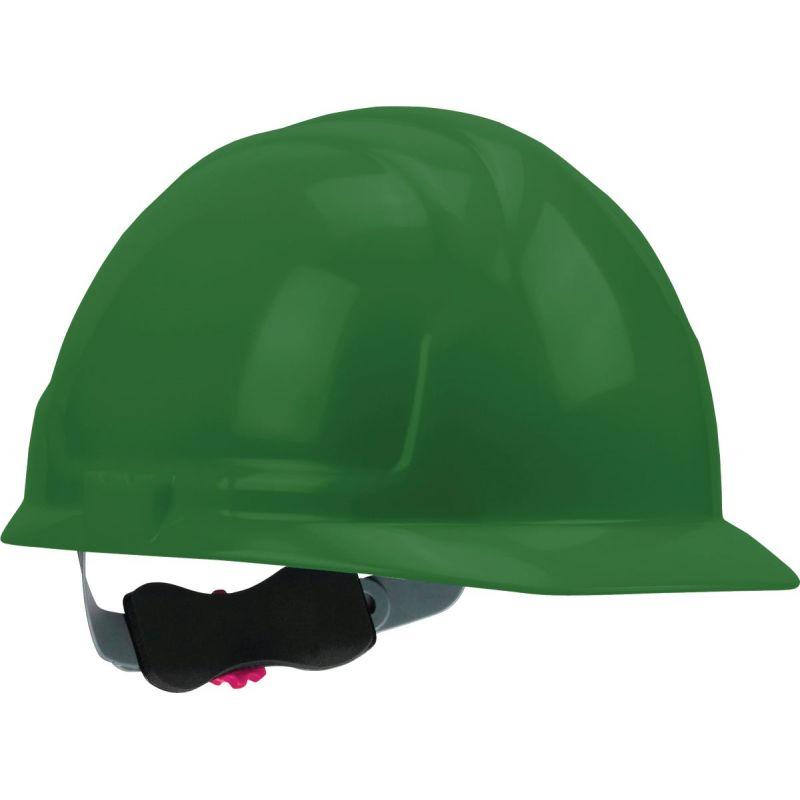 Safety Works Cap Style Wheel Ratchet Hard Hat Universal, Green