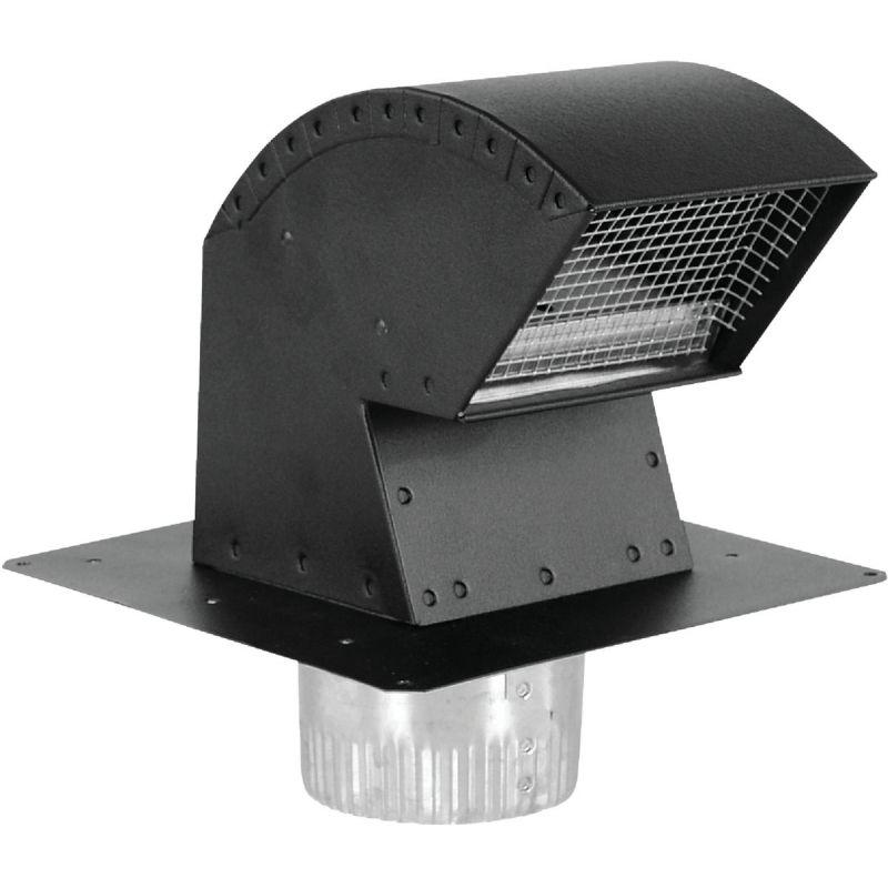 """Imperial R2 Premium Roof Vent Cap 6"""", Black"""