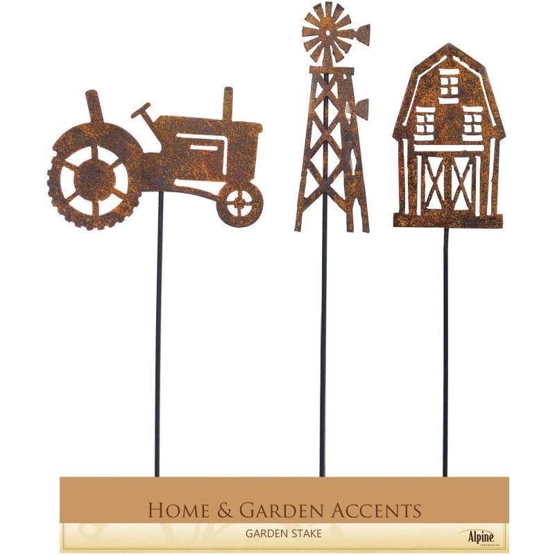 Alpine Farm Designs Garden Stake Lawn Ornament Rustic Metal (Pack of 18)