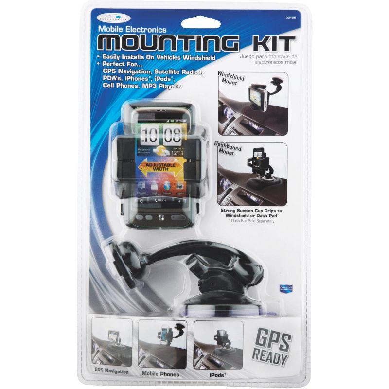 Custom Accessories GPS/Phone Holder Mounting Kit Black