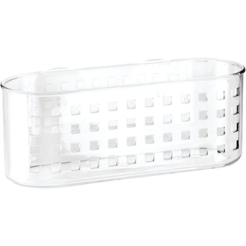 iDesign Suction Shower Basket Clear