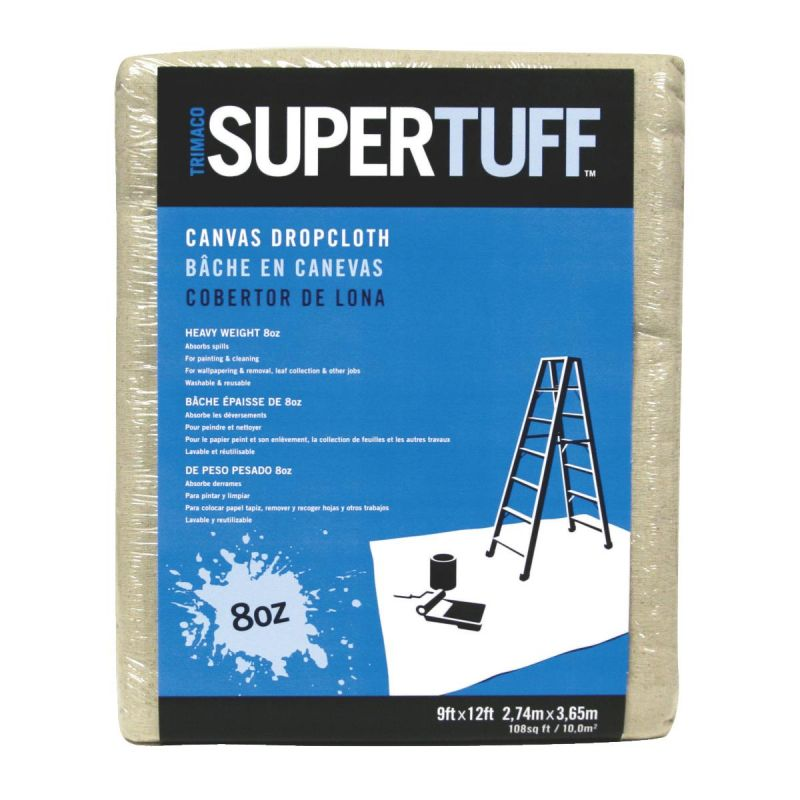 Trimaco SuperTuff Heavyweight Canvas Drop Cloth Tan