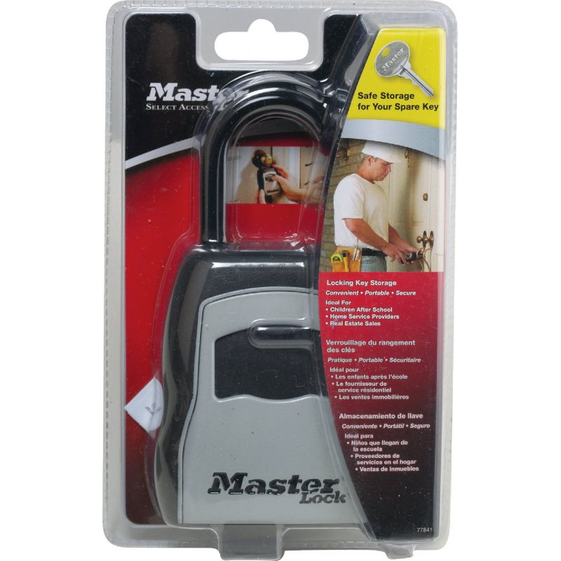 Master Lock Combination Key Safe 3.25 In. W. X 7.25 In. H. X 1.5 In. D., Gray