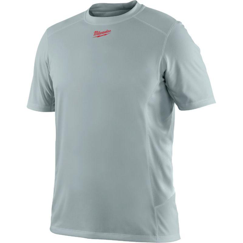 Milwaukee Workskin Lightweight Performance T-Shirt M, Gray, Short Sleeve