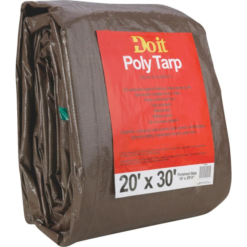 Do it Medium Duty Poly Tarp 20 Ft. X 30 Ft., Green/Brown