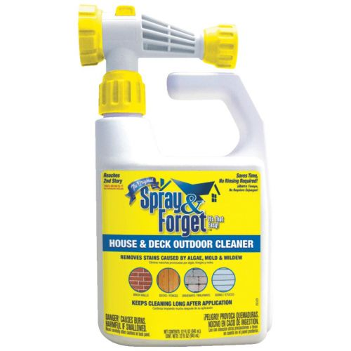 Spray Forget Concentrated House Deck Mold Mildew Cleaner Hose End Sprayer 32 Oz