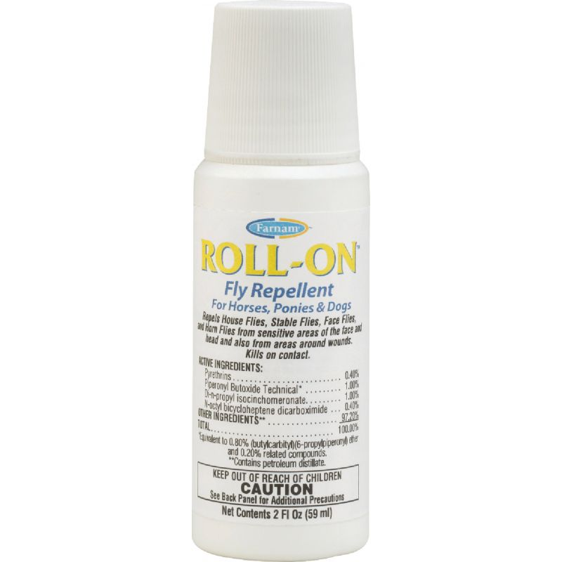 Farnam Roll-On Fly Repellent For Horses, Ponies, & Dogs 2 Oz.