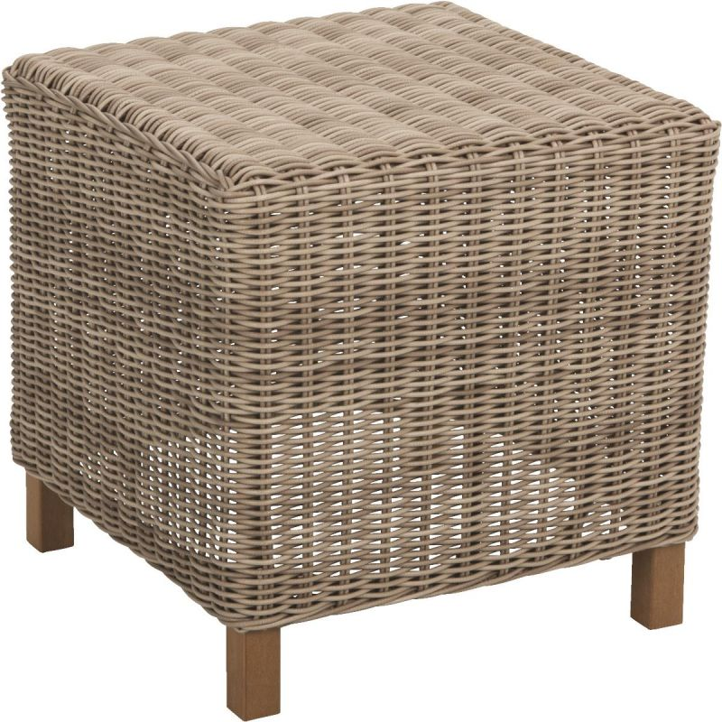 Cambria Wicker End Table Brown