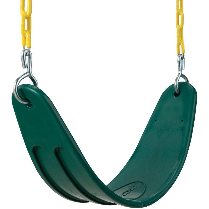 Swing N Slide Extra-Duty Belted Seat Swing Green