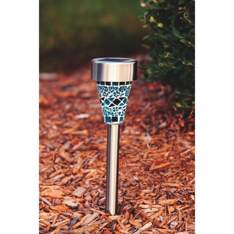 Outdoor Expressions Mosaic Solar Path Light Blue Or Purple (Pack of 12)