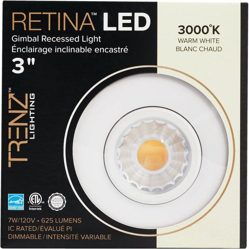 Liteline Trenz Retina 3000K Gimbal Recessed Light Kit 3 In., White