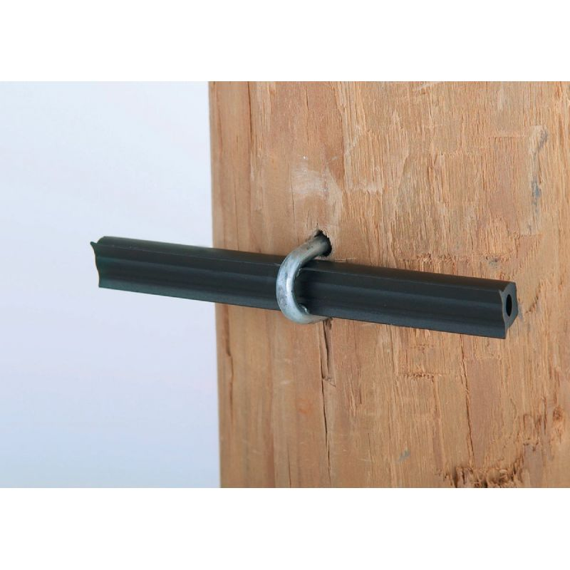 Dare Tube Style Wood Post Electric Fence Insulator Black, Tube
