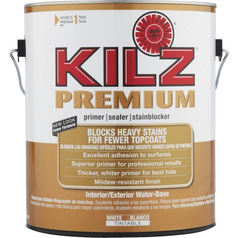 KILZ Premium Water-Base Interior/Exterior Sealer Stain Blocking Primer 1 Gal., White