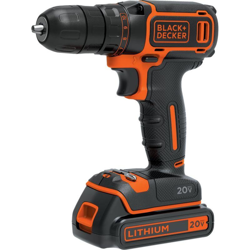 Black & Decker 20V MAX Lithium-Ion Cordless Drill Kit
