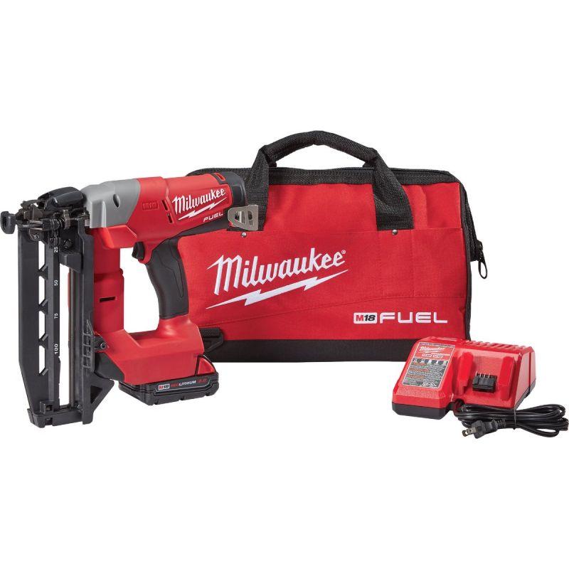 Milwaukee M18 FUEL Brushless Cordless Finish Nailer Kit