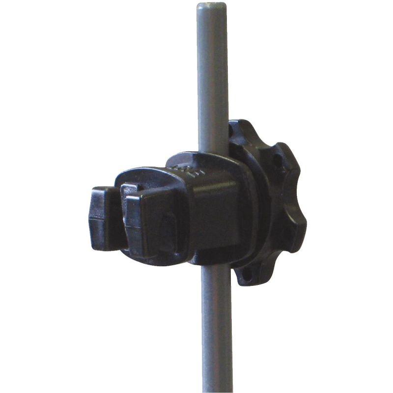 Dare Western Screw-Tight Round Post Electric Fence Insulator Black, Screw-On