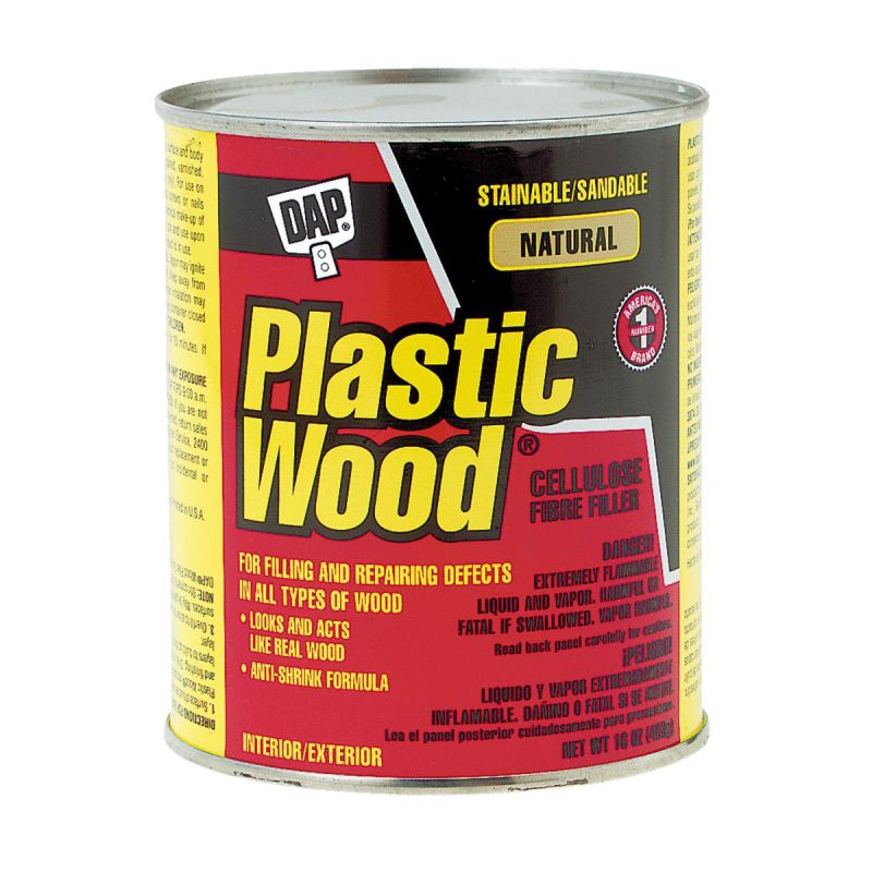 DAP Plastic Wood Solvent Professional Wood Filler 16 Oz., Natural