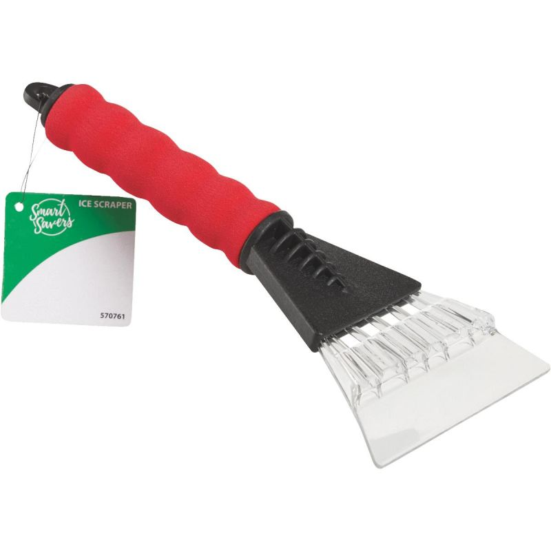 Smart Savers Ice Scraper Red/Black (Pack of 12)
