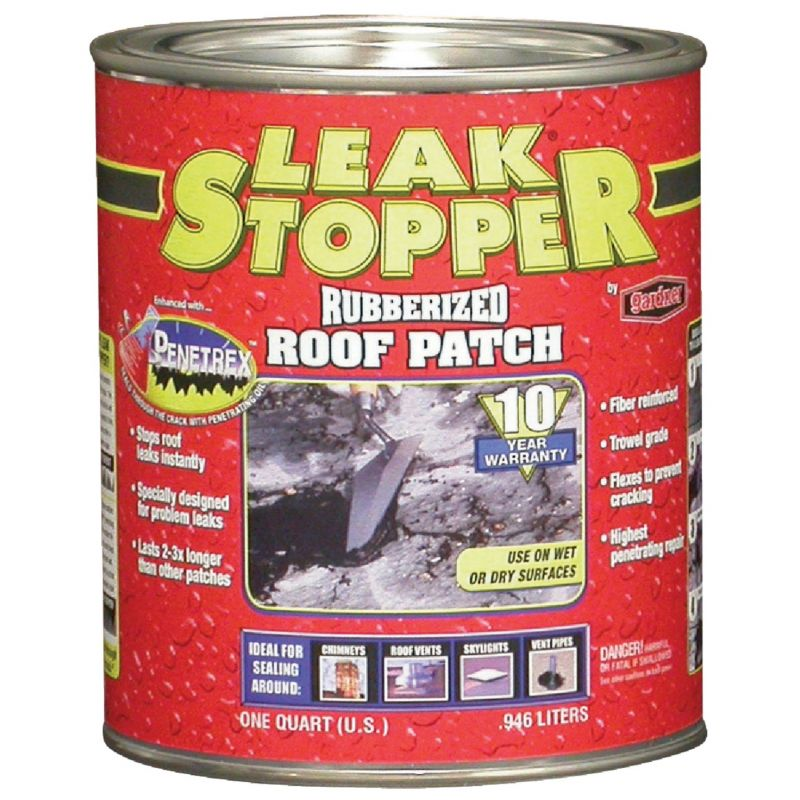 Black Jack Leak Stopper Rubberized Roof Patch 30 Oz., Black