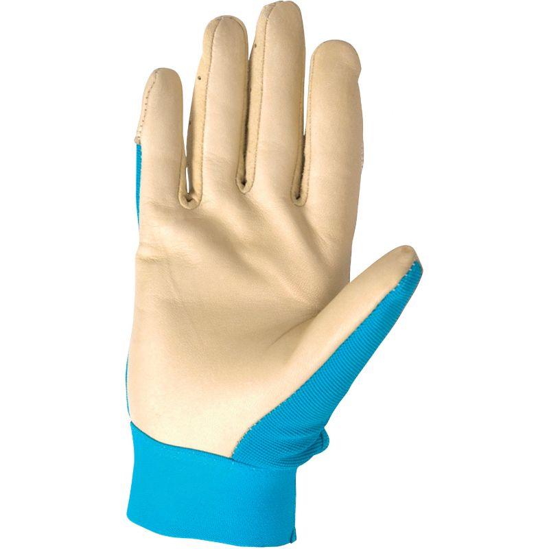 Wells Lamont HydraHyde Women's Adjustable Wrist Work Glove S, Tan & Blue