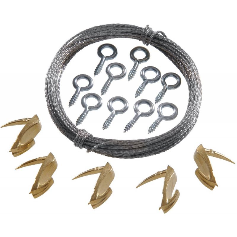 Hillman Anchor Wire Wallbiter Picture Hanging Kit 15 Lb