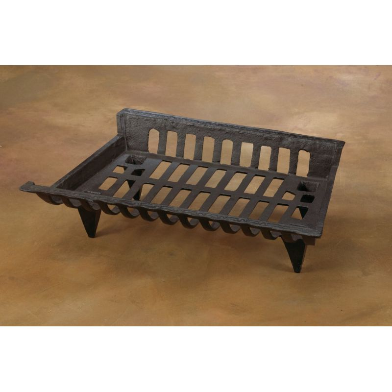Home Impressions Zero Clearance Cast-Iron Fireplace Grate Black