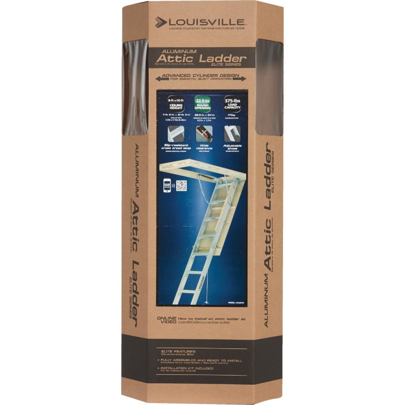 Louisville Ladder Elite Aluminum Attic Stairs