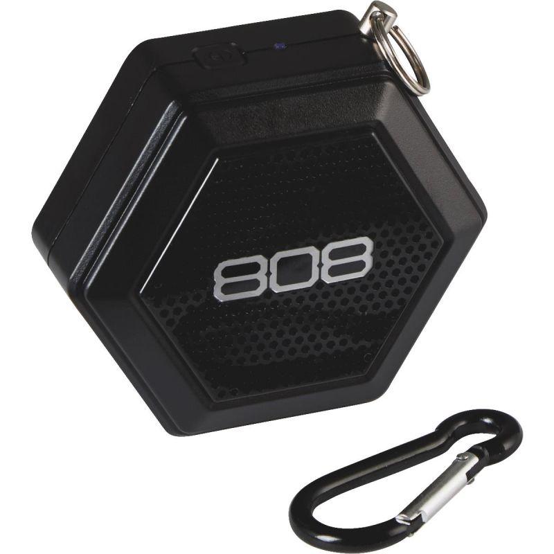 808 Hex Tether Wireless Speaker 3 In. W. X 1 In. D., Black