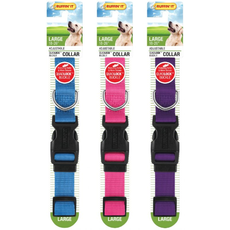 Westminster Pet Ruffin' it Dog Collar Purple/Pink/Blue