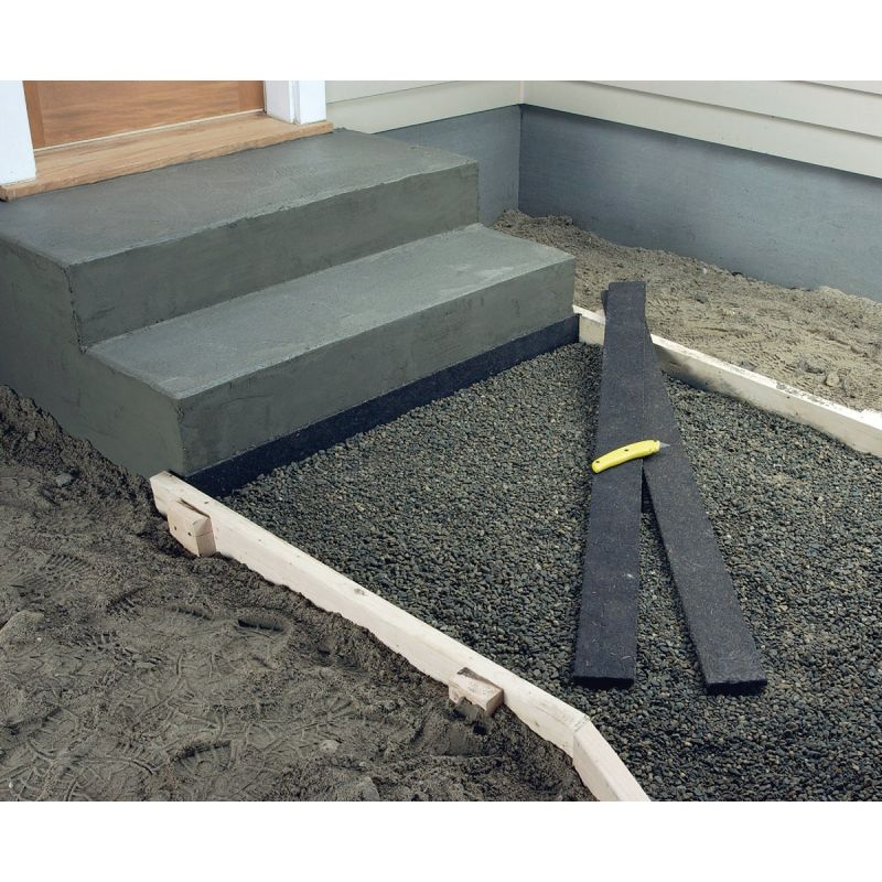 """Quikrete Expansion Joint Strips 4"""" W X 1/2"""" H X 5' L, Black (Pack of 40)"""